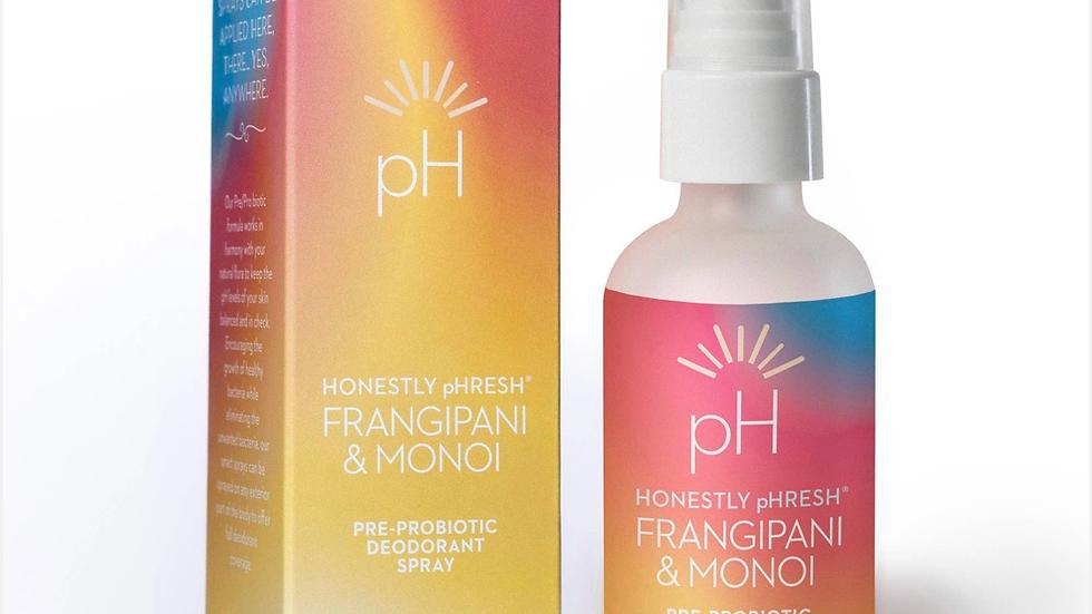 Frangiapani and Monoi Pre/Pro Biotic Deodorant Spray