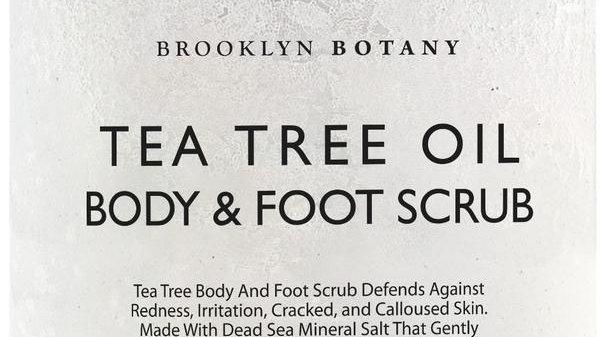 TEA TREE BODY AND FOOT SCRUB