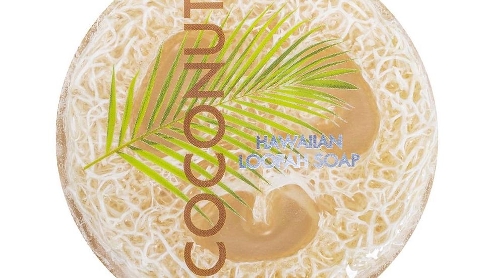 Coconut Sea Salt & Kukui Exfoliating Loofah Soap