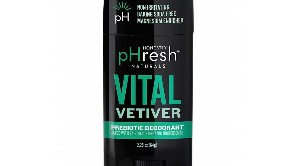Vital Vetiver Prebiotic Mineral Deodorant for Men