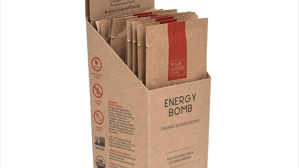 Energy Bomb Organic Mix - Super Pack