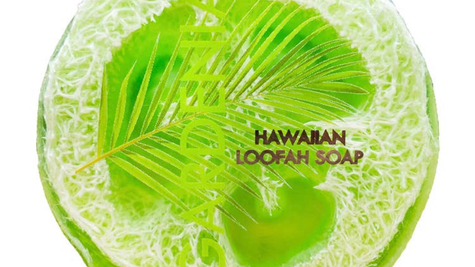 Gardenia Sea Salt & Kukui Exfoliating Loofah Soap