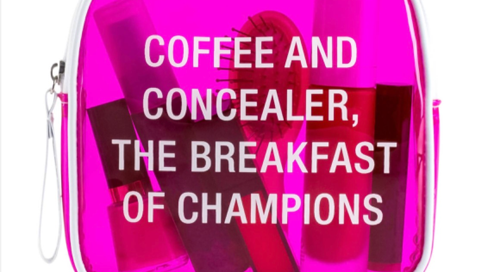 Coffee & Concealer Makeup Bag