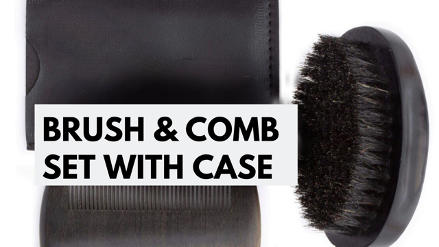 Beard Brush & Comb Kit