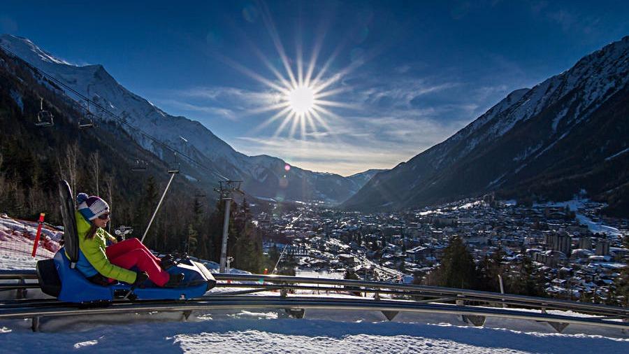 La luge d'hiver de Chamonix