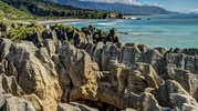 Pancake Rocks Blowholes Punakaiki West Coast New Zealand