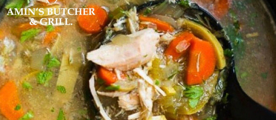THE MOST HEARTY, DELICIOUS, SLOW COOKER CHICKEN SOUP!