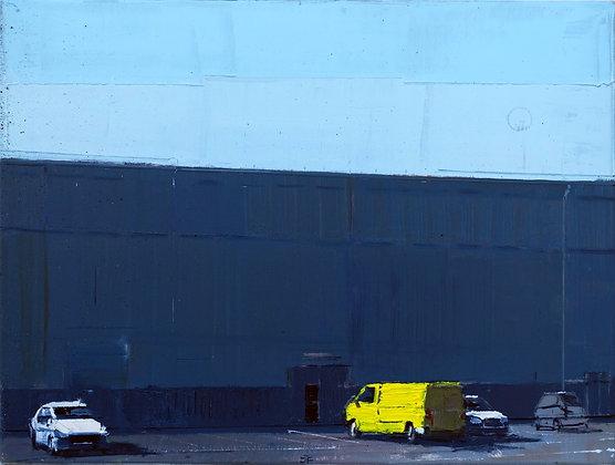 Angyaföld Parking Lot (diptych), 2020