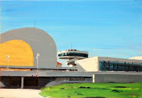 Avilés_Oscar_Niemeyer_38x55cm_oilcanvas