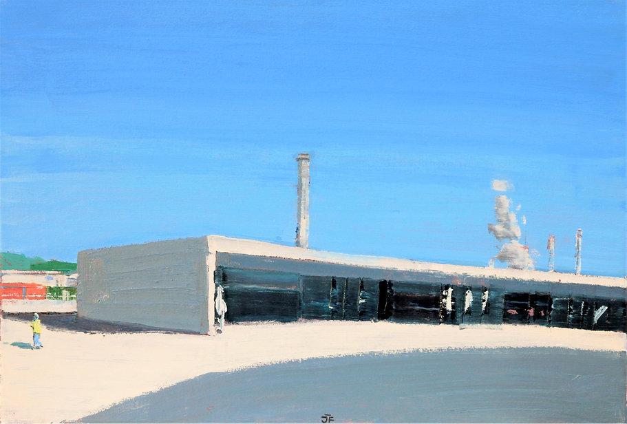 Avilés_Oscar_Niemeyer_II._38x55cm_oilca