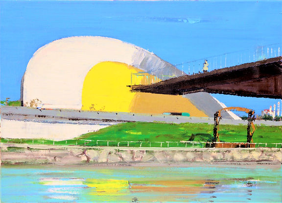 Avilés_Oscar_Niemeyer_III._33x46cm_oilc