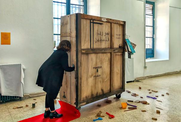 'El día que realmente votaste', vista de instalación con obra de Óscar Vautherin