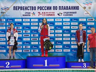 Прикамские пловцы завоевали девять медалей на Первенствах России