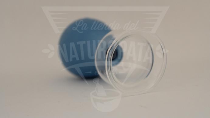Ventosa de cristal (3cm) con perilla de hule