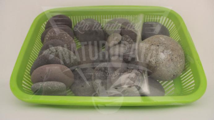 Set de piedras de río para masaje (25 pzs)