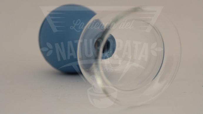 Ventosa de cristal (4cm) con perilla de hule