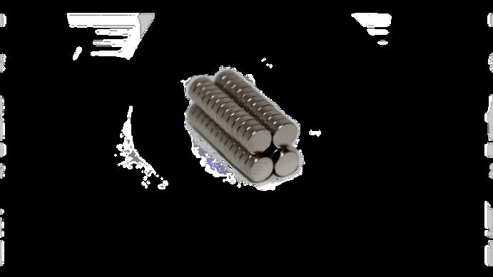 Imán de neodimio mini delgado (50 pzs)