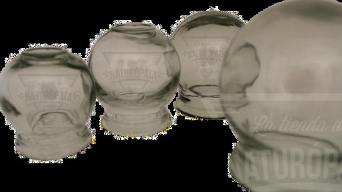 Juego de ventosas de cristal (4 pzs)