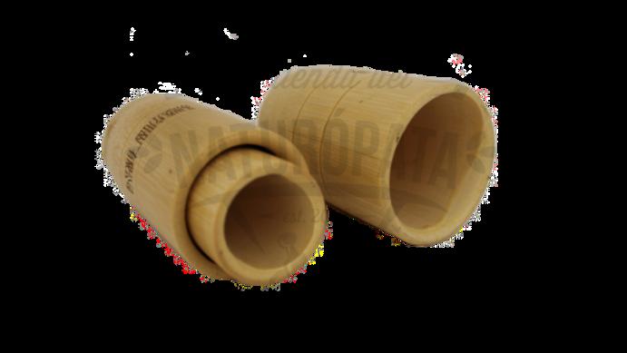 Juego de ventosas de bambú