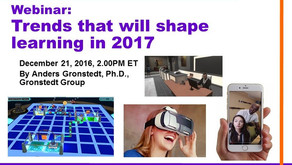 Video recording of our webcast: Trends that will shape learning in 2017