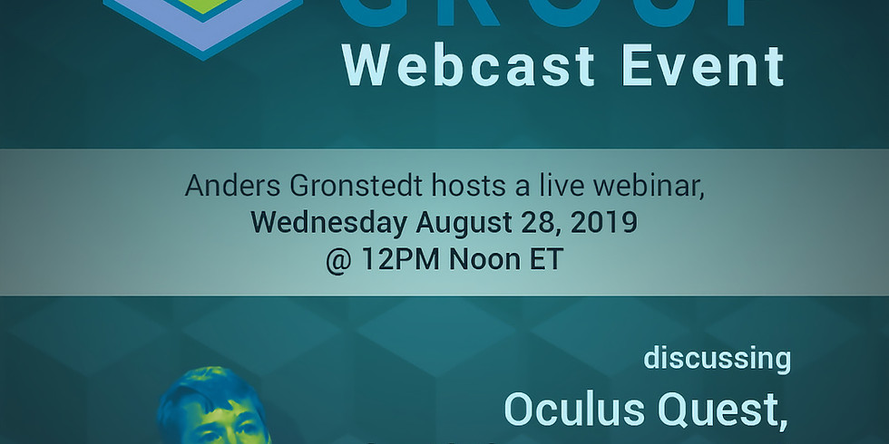 """Webcast: Oculus Quest, the """"iPhone moment"""" of VR learning?"""