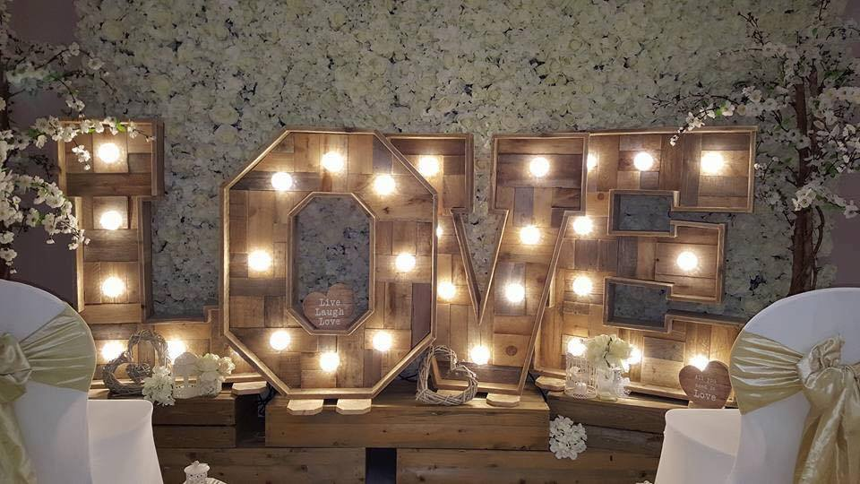 Rustic Wood LED Letter