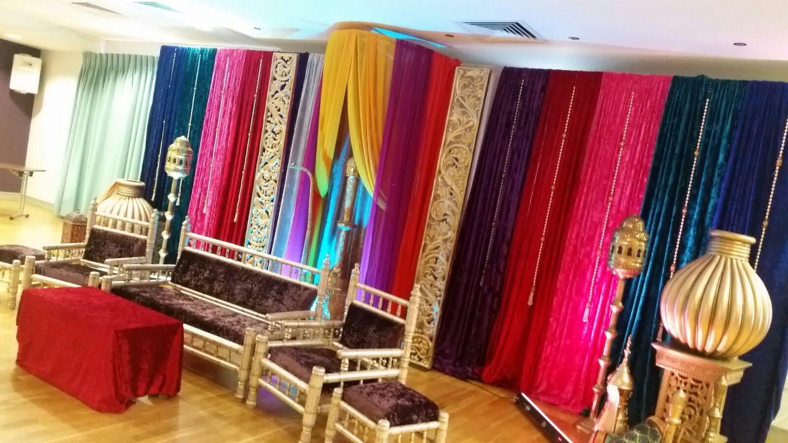 Traditional Mehndi Stage