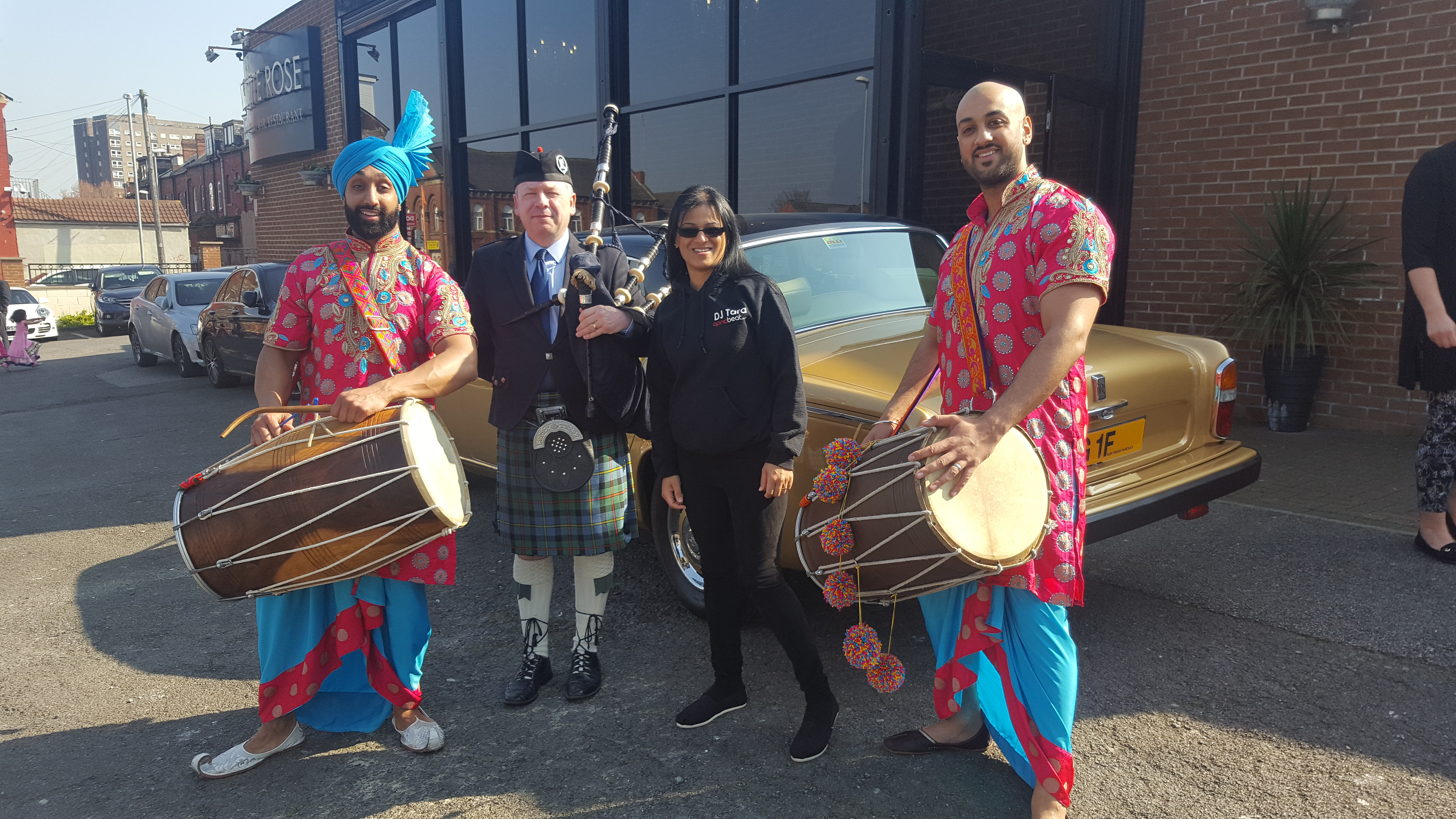 Dhol and Bagpipes