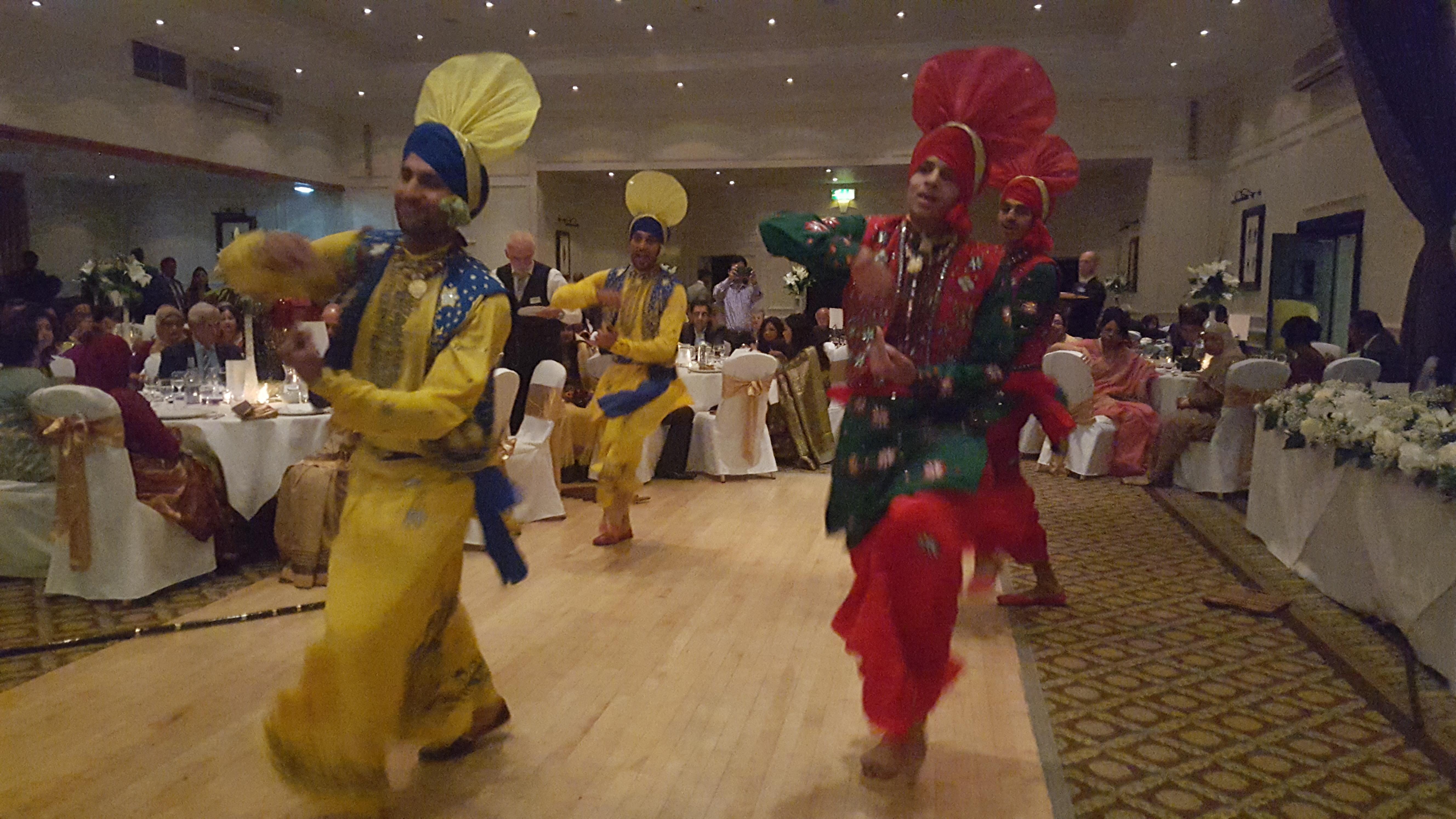 Bhangra Dancers Dunkenhalgh Hotel