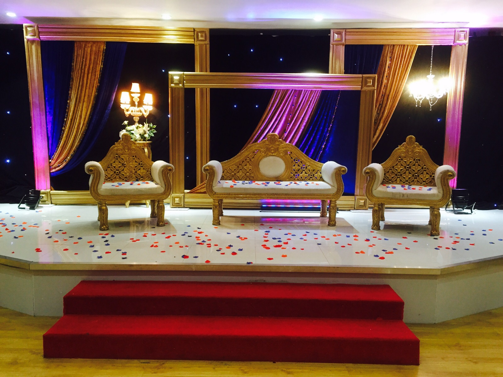 Asian Wedding Stage Yorkshire