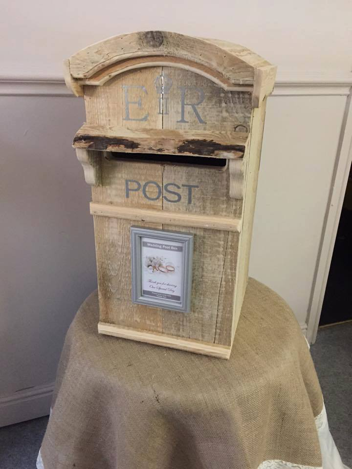 Rustic Wood Post Box
