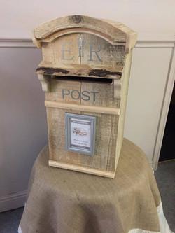 Rustic Wood Post Box