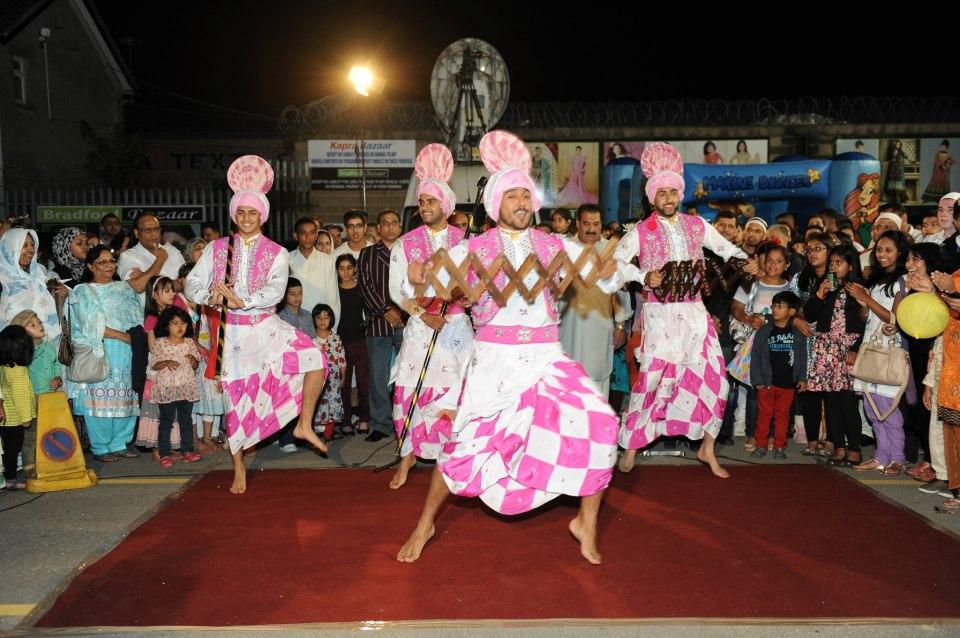 Bradford Bhangra dancers