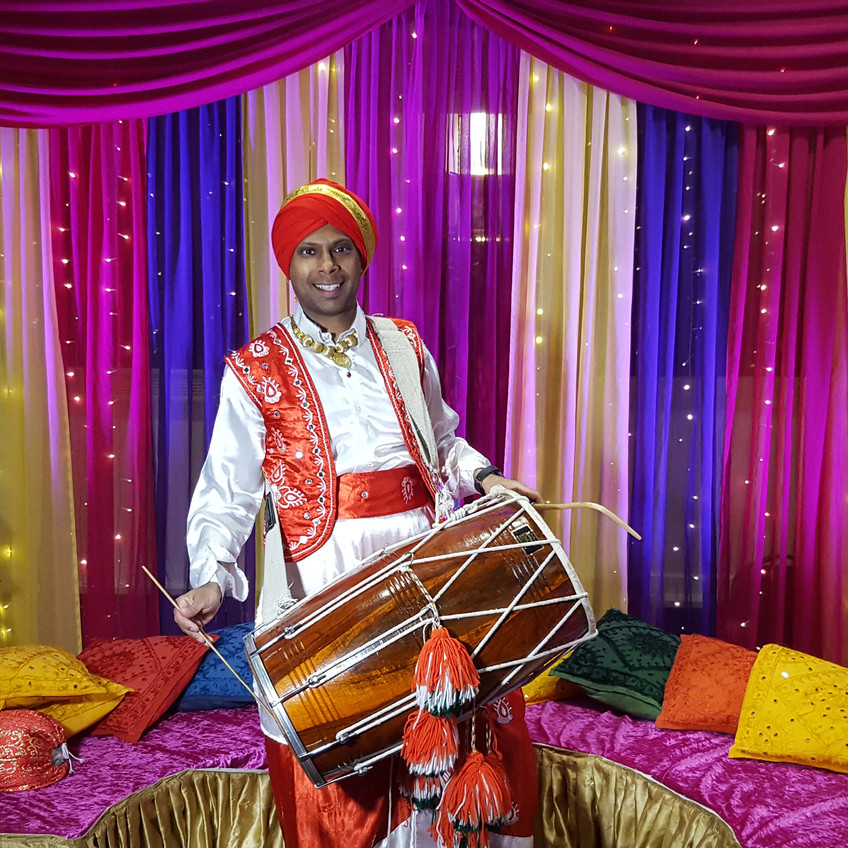 MAnchester Dhol Player