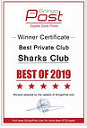 Winner certificate-Private Clubl Hall.jp