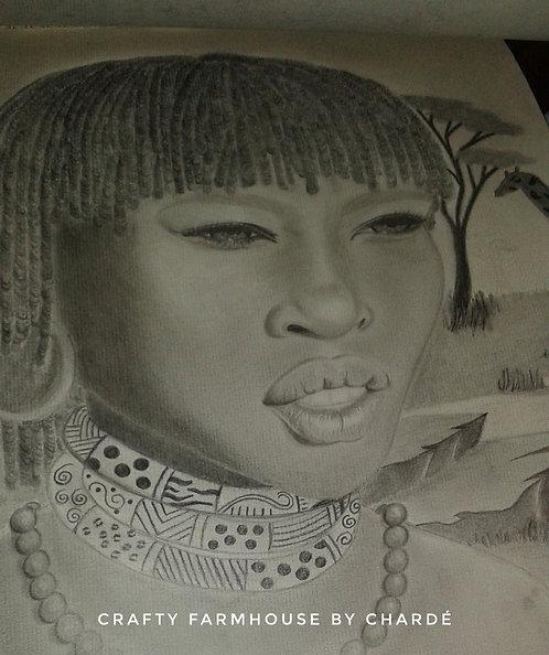 Charcoal & Graphite Portrait 18x24