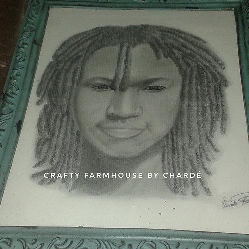 """Charcoal & Graphite Portrait 11""""x17"""""""
