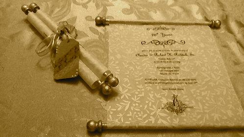 Wedding Scroll Invitation