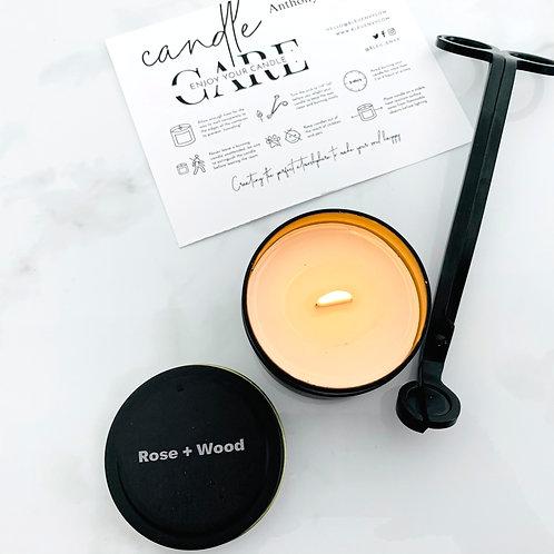 Rose + Wood Travel Candle Tin