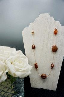 Amber Boho Bead Necklace