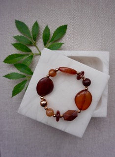 Rustic Amber Bead Bracelet