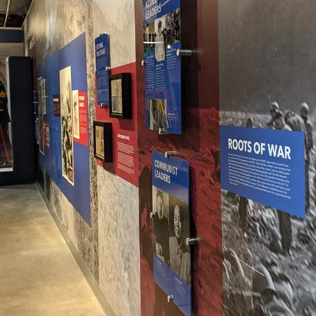 Korean War Exhibit Wall