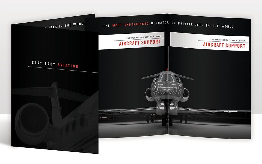 Clay Lacy Aviation Folder Design