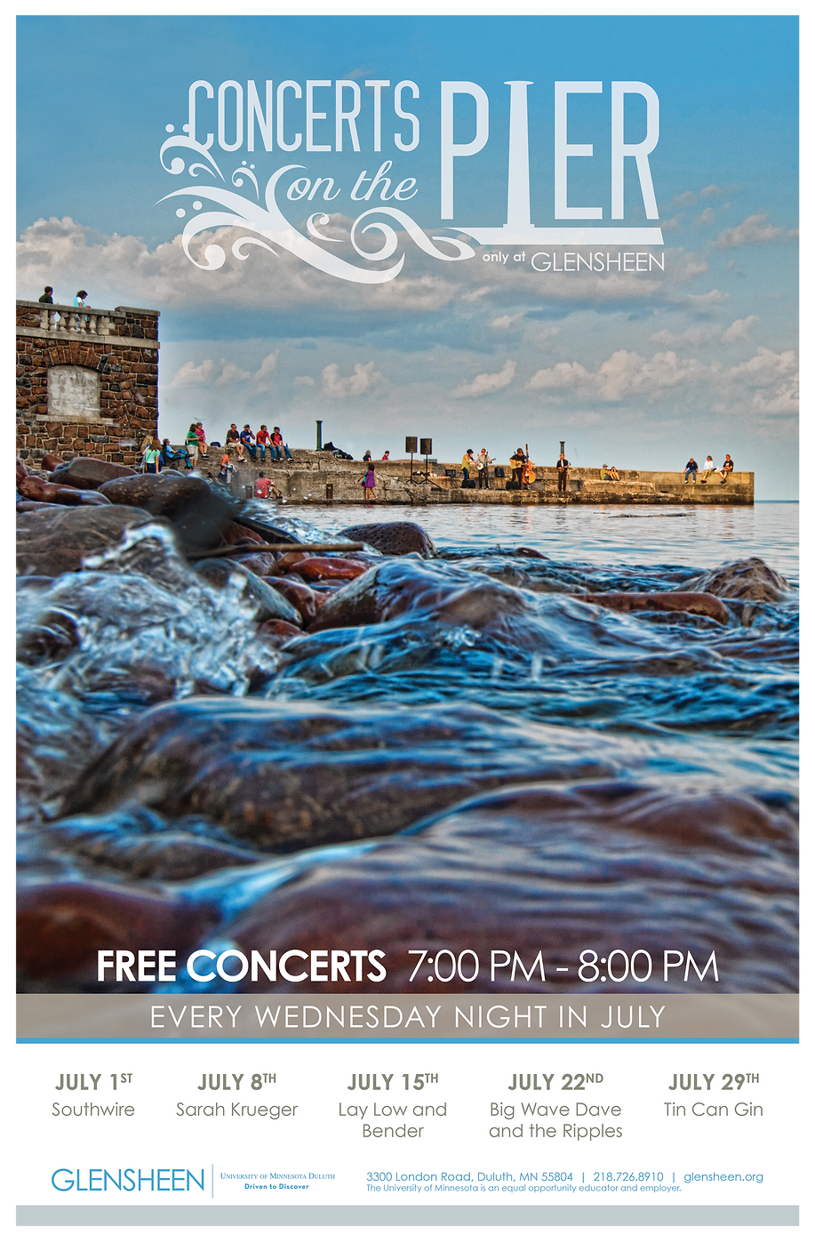 Concerts on the Pier Poster Design
