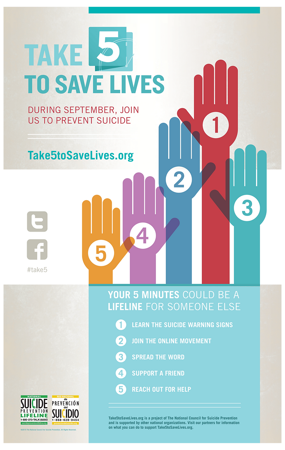 Take 5 To Save Lives Poster Design