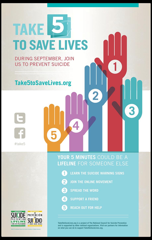 Poster design help - Take 5 To Save Lives Poster Design