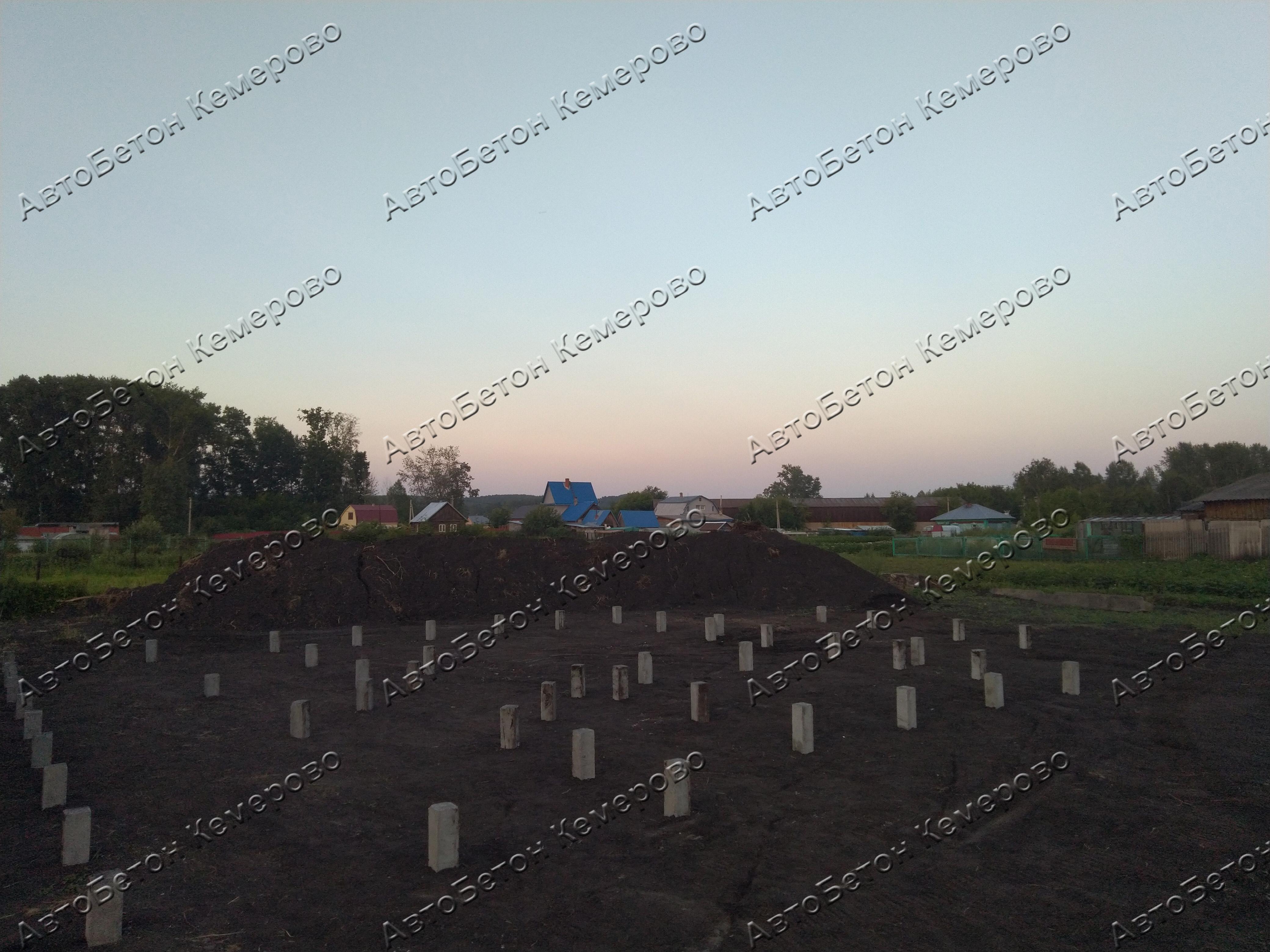 фундамент на забивных жб сваях в Березово