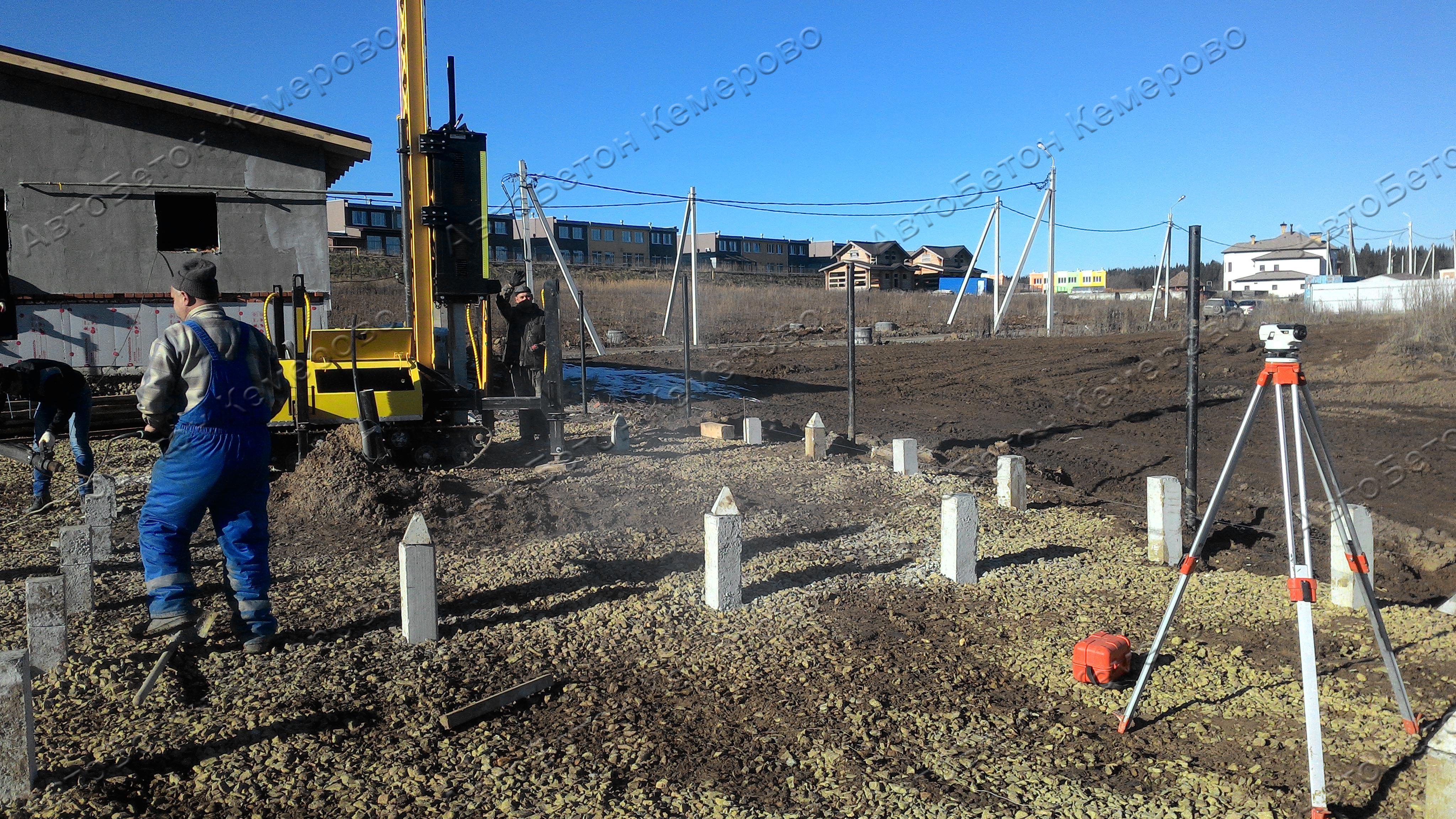 фундамент на забивных жб сваях 6 метров