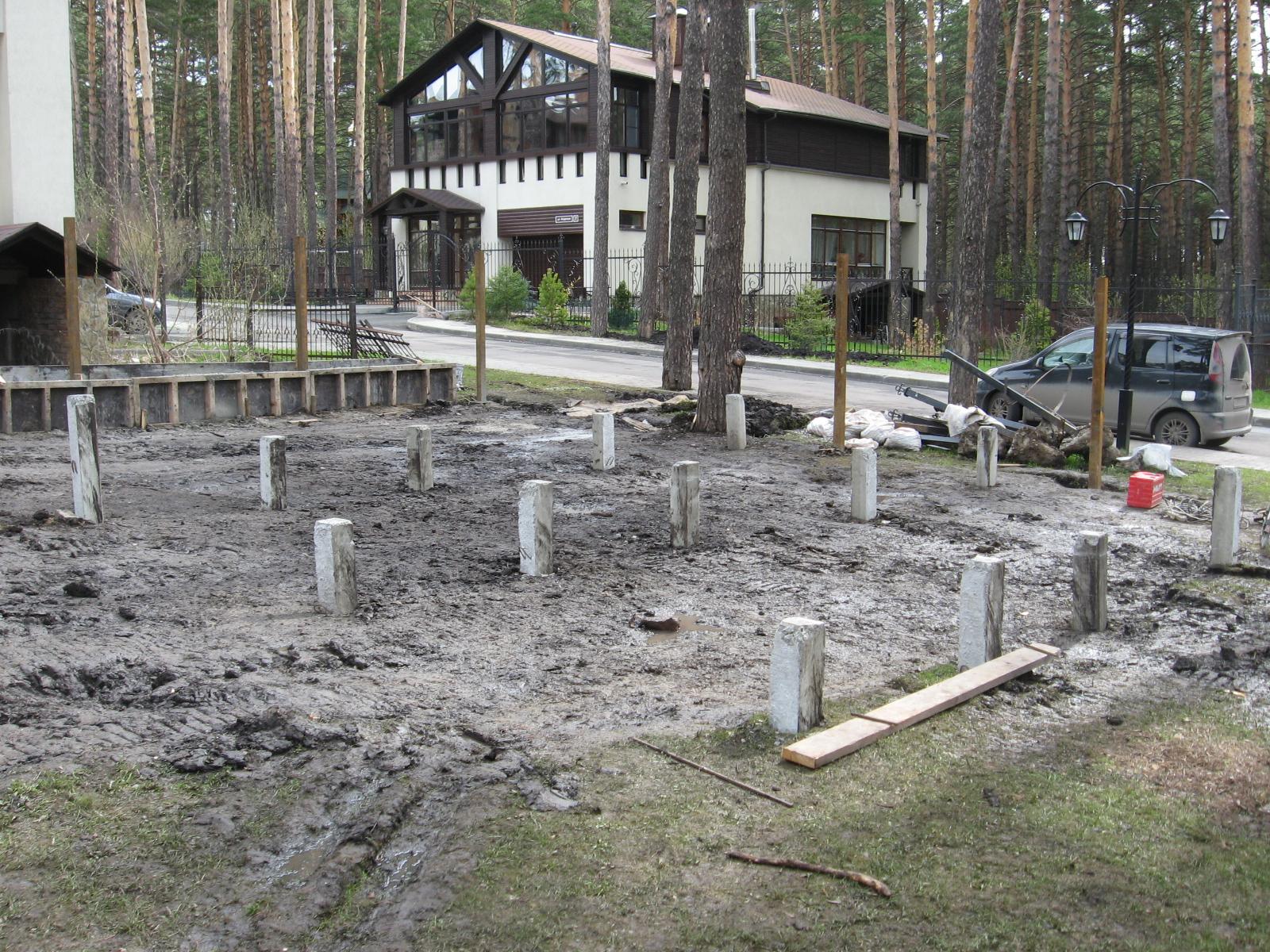 фундамент на жб сваях под баню в Кемерово