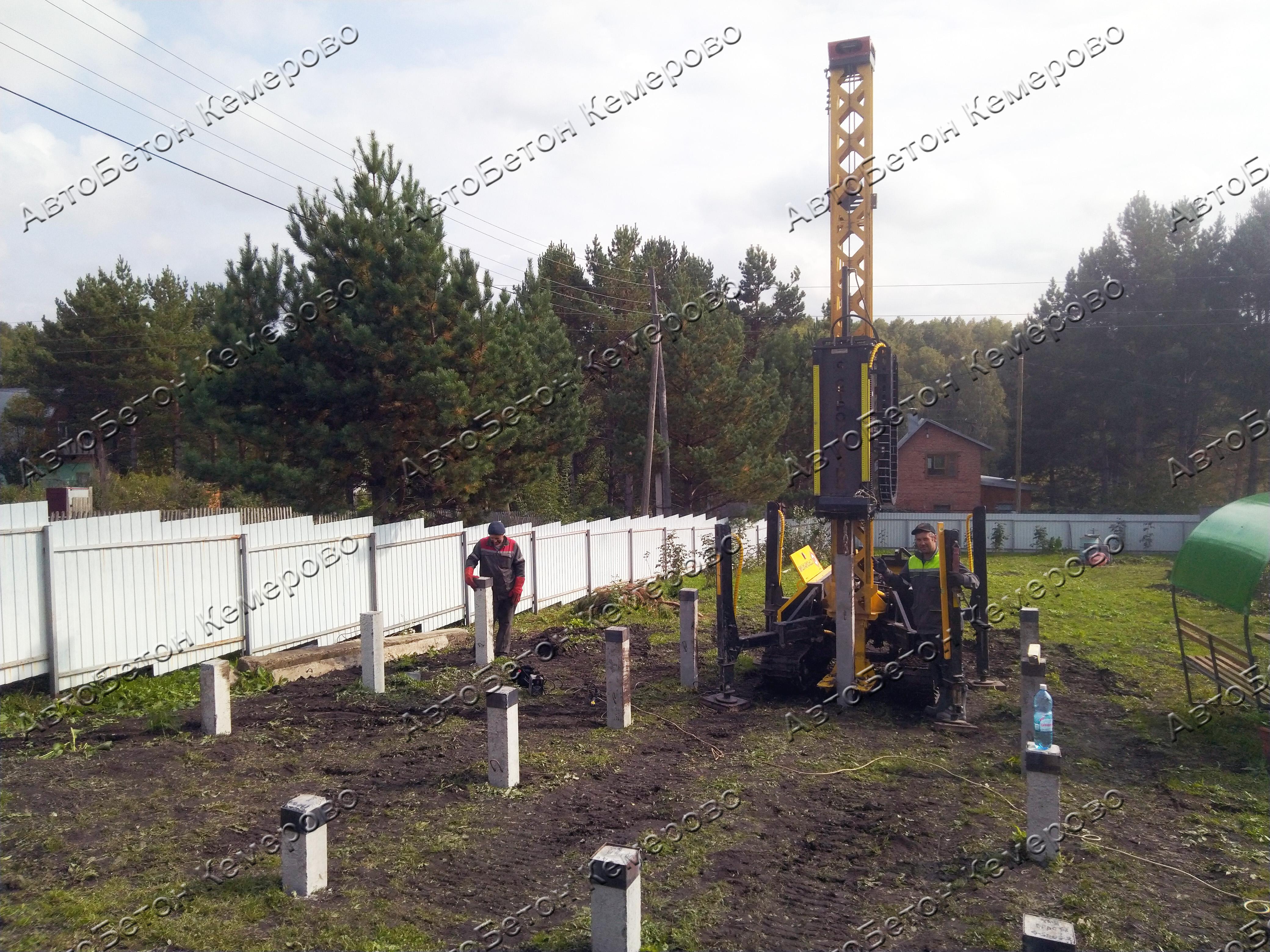 фундамент на забивных жб сваях в Кемерово